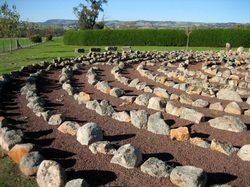 Rock labyrinth at Avenel Maze, great kids fun especially on school holidays