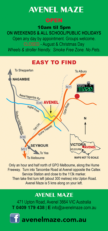 Get directions for Avenel Maze, great kids fun especially on school holidays